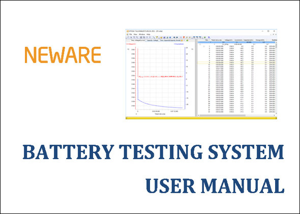 Neware battery testing system BTS4000 software manual